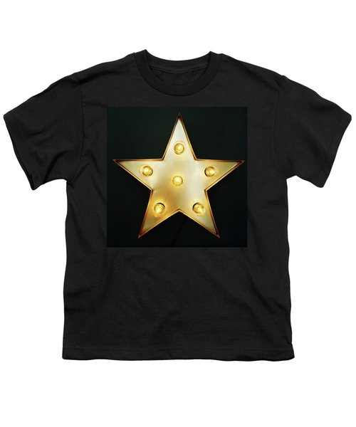 Decorative Star With Light Bulbs Youth T-Shirt