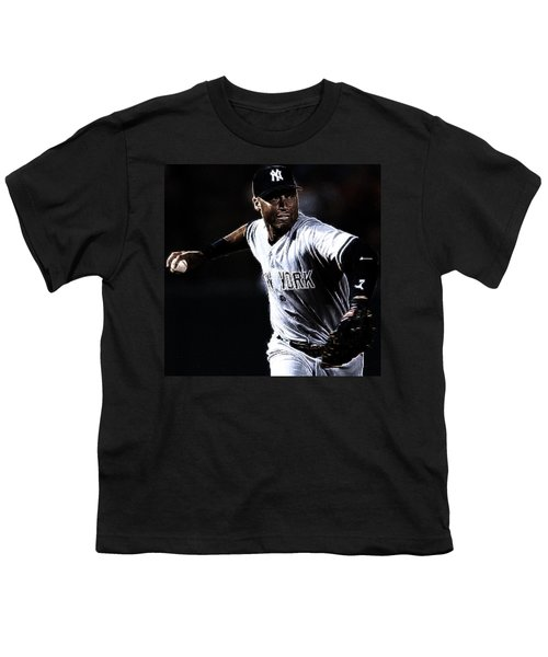 Derek Jeter Youth T-Shirt by Paul Ward