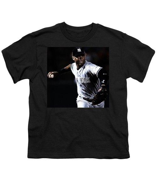 Derek Jeter Youth T-Shirt by Paul Ward