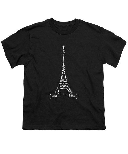 Digital-art Eiffel Tower - Panoramic Youth T-Shirt
