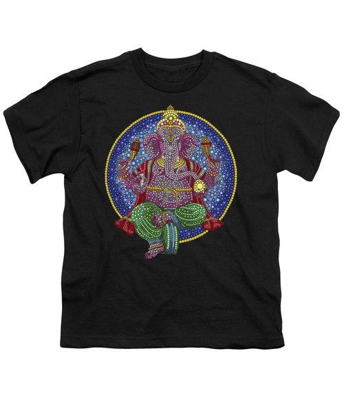 Digital Ganesha Youth T-Shirt by Tim Gainey