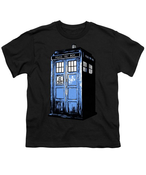 Doctor Who Tardis Youth T-Shirt by Edward Fielding