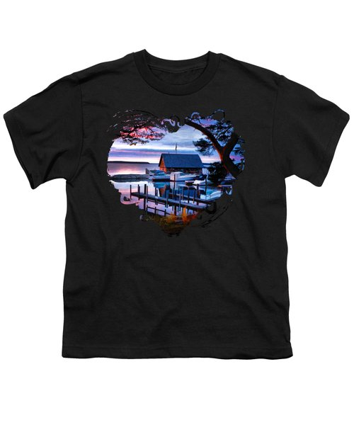 Door County Anderson Dock Sunset Youth T-Shirt by Christopher Arndt