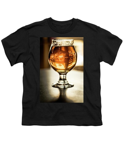 Downtown Waukesha Through A Glass Of Beer At Bernie's Taproom Youth T-Shirt