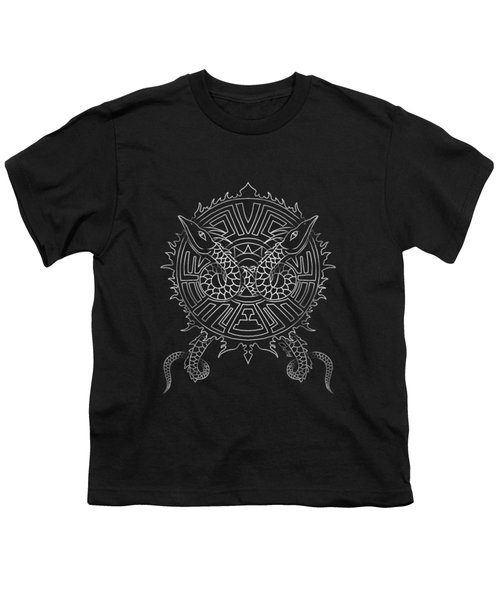 Dragon Shield Youth T-Shirt by Christopher Szilagyi