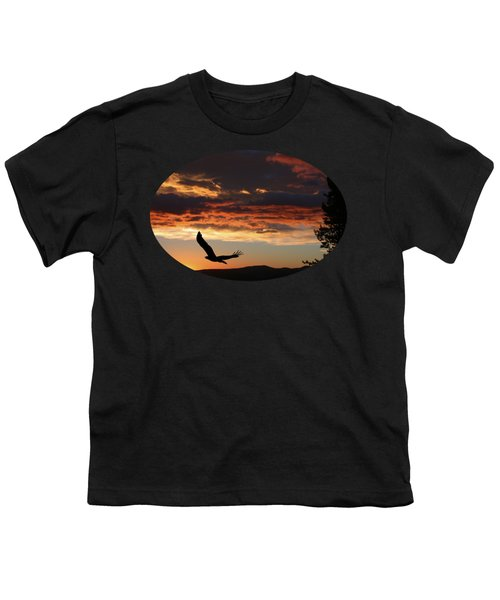 Eagle At Sunset Youth T-Shirt