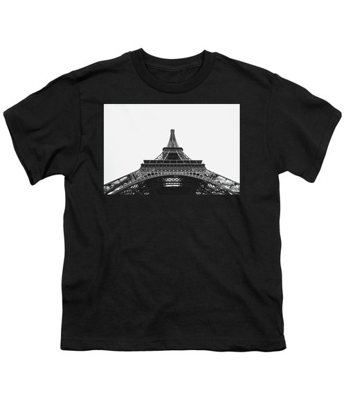 Youth T-Shirt featuring the photograph Eiffel Tower Perspective  by MGL Meiklejohn Graphics Licensing