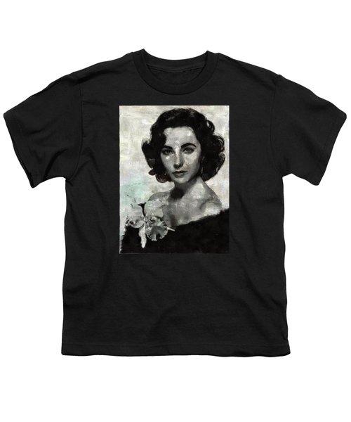 Elizabeth Taylor Youth T-Shirt by Mary Bassett