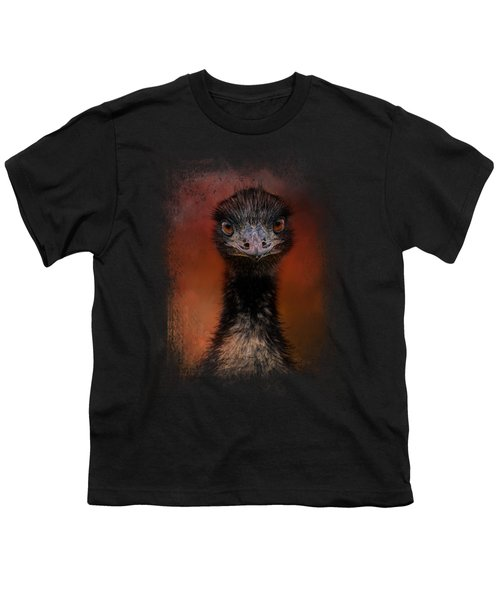 Emu Stare Youth T-Shirt by Jai Johnson