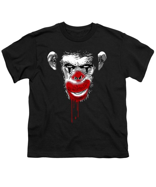 Evil Monkey Clown Youth T-Shirt by Nicklas Gustafsson