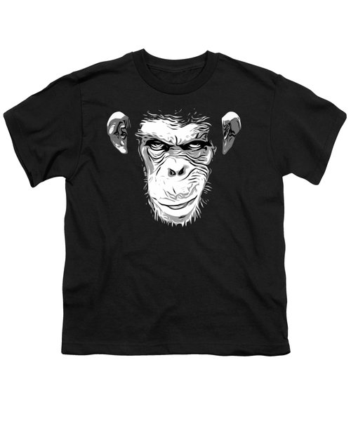 Evil Monkey Youth T-Shirt by Nicklas Gustafsson
