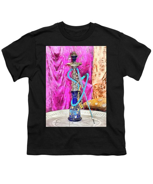 Exotic Oriental Hookah Pipe Youth T-Shirt