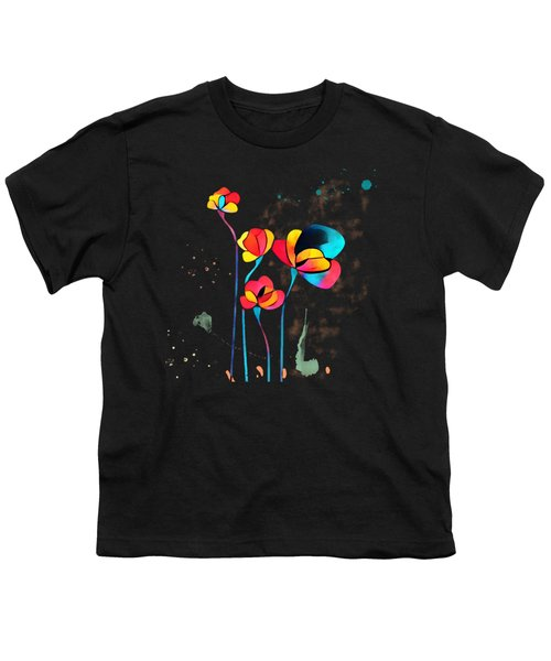 Exotic Watercolor Flower Youth T-Shirt