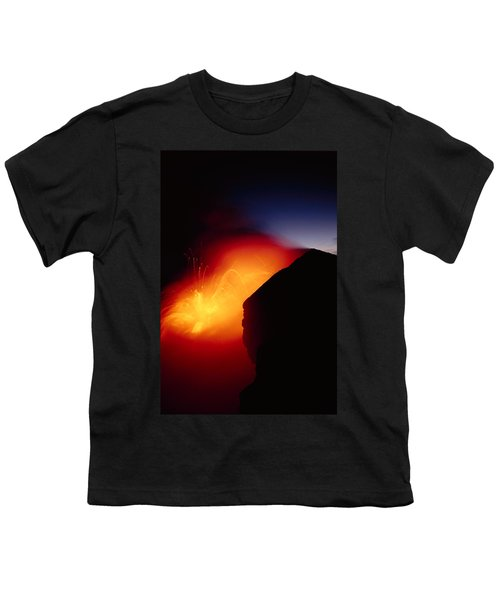 Explosion At Twilight Youth T-Shirt by William Waterfall - Printscapes