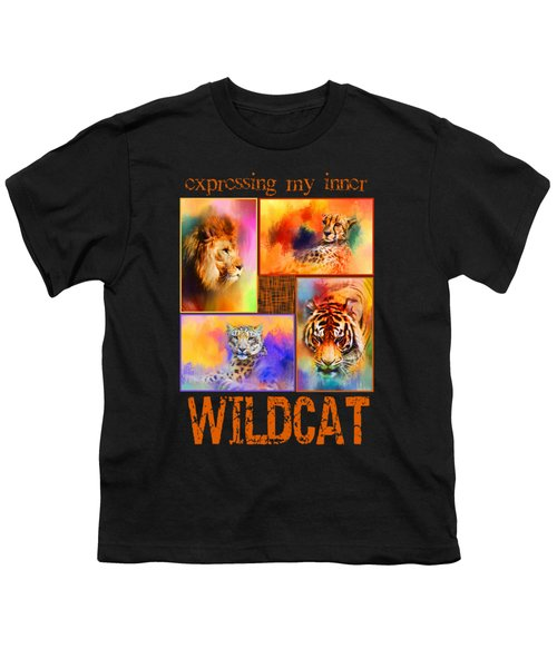 Expressing My Inner Wildcat Youth T-Shirt by Jai Johnson