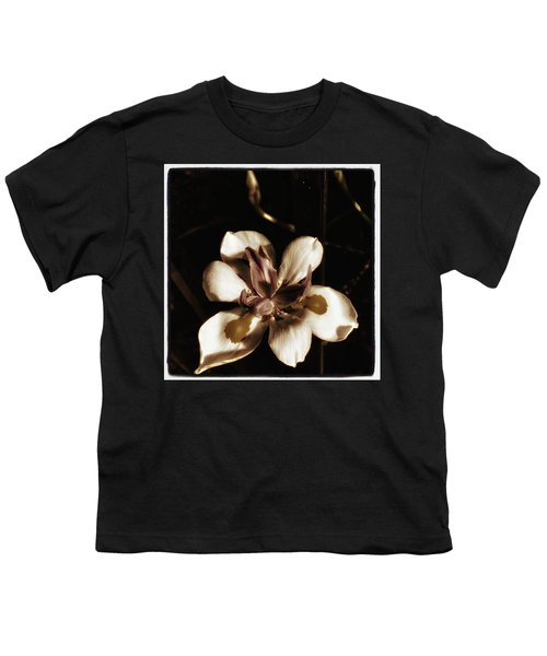 Youth T-Shirt featuring the photograph Fairy Iris. A Butterfly Landed On My by Mr Photojimsf