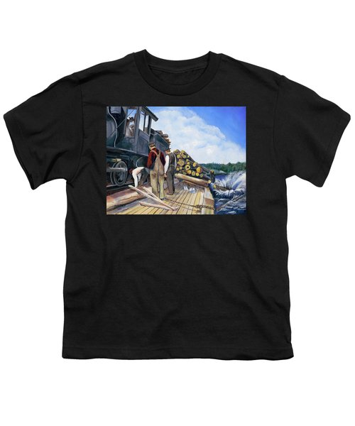 Fall Lake Train Youth T-Shirt