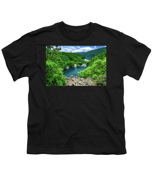 Falls From Above - Plitvice Lakes National Park, Croatia Youth T-Shirt