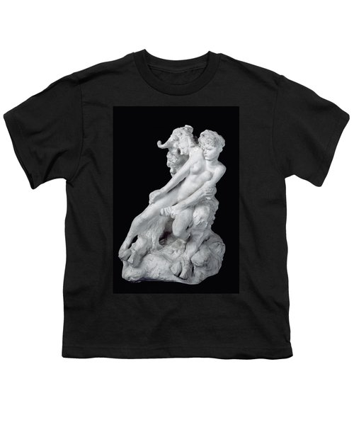 Faun And Nymph Youth T-Shirt by Auguste Rodin