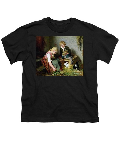 Feeding The Rabbits Youth T-Shirt by Felix Schlesinger
