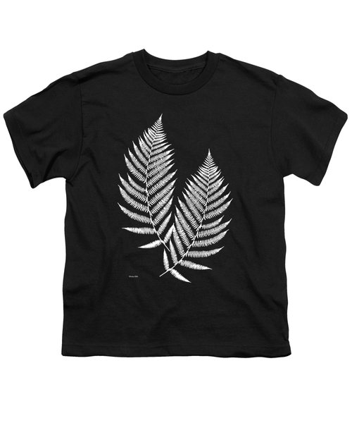 Fern Pattern Black And White Youth T-Shirt by Christina Rollo