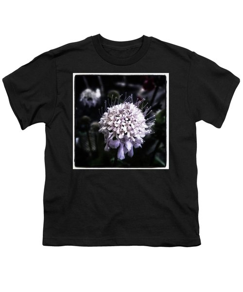 Youth T-Shirt featuring the photograph Field Scabious. A Member Of The by Mr Photojimsf