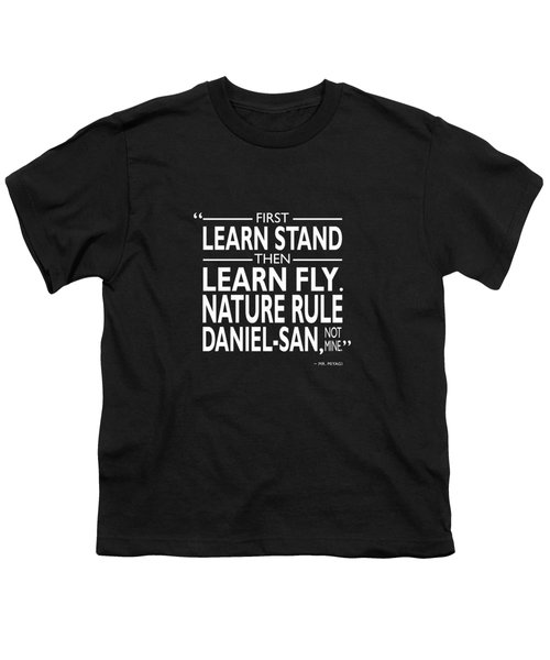 First Learn Stand Youth T-Shirt by Mark Rogan