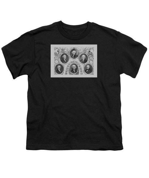 First Six U.s. Presidents Youth T-Shirt by War Is Hell Store