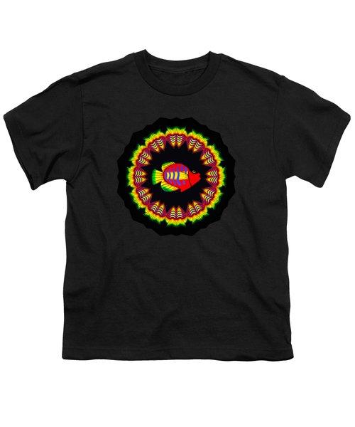 Fish Kaleidoscope By Kaye Menner Youth T-Shirt by Kaye Menner