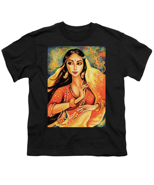 Youth T-Shirt featuring the painting Flame by Eva Campbell
