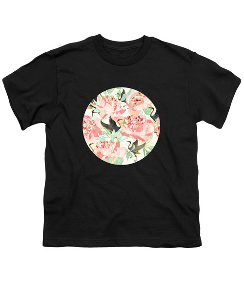 Floral Cranes Youth T-Shirt