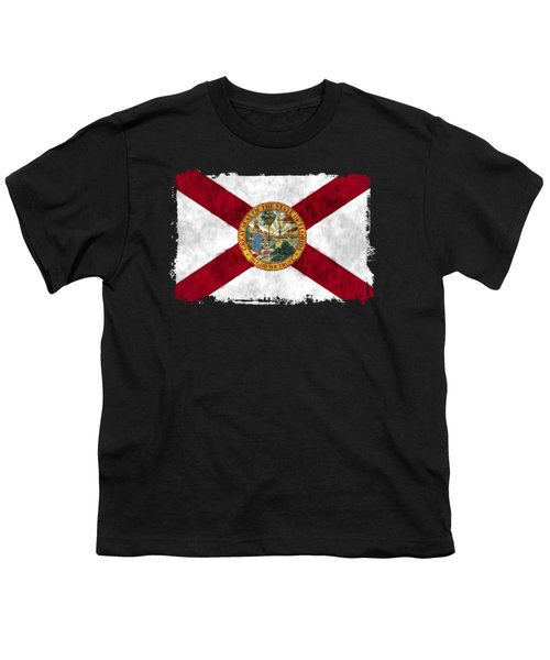Florida Flag Youth T-Shirt by World Art Prints And Designs