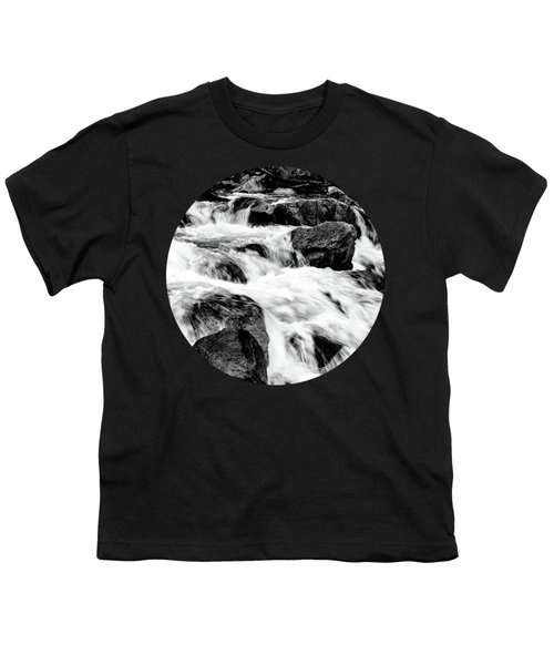 Flow, Black And White Youth T-Shirt by Adam Morsa