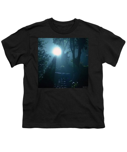Foggy Night At The Old Railway Village Youth T-Shirt