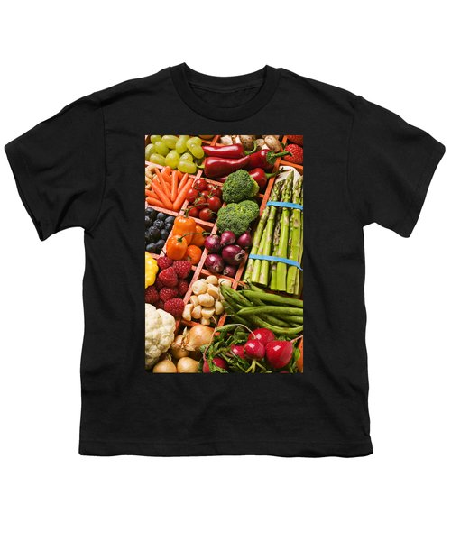 Food Compartments  Youth T-Shirt by Garry Gay