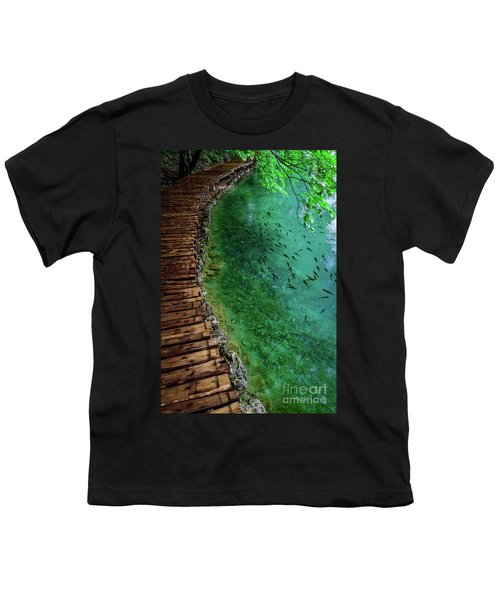 Footpaths And Fish - Plitvice Lakes National Park, Croatia Youth T-Shirt