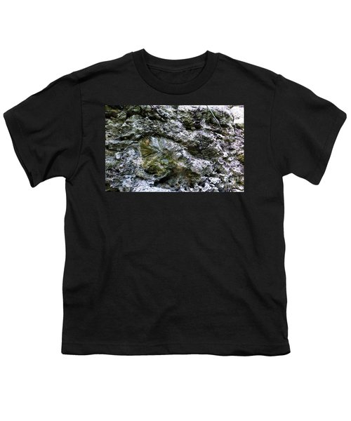 Youth T-Shirt featuring the photograph Fossil In The Wall by Francesca Mackenney