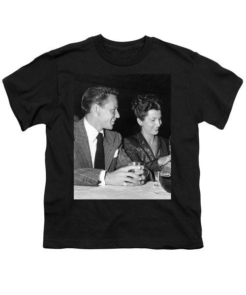 Frank Sinatra And Nancy Youth T-Shirt by Underwood Archives