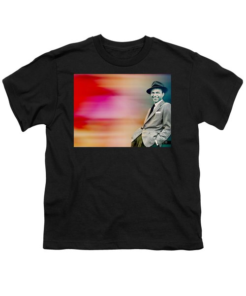 Youth T-Shirt featuring the digital art Frank Sinatra by Marvin Blaine