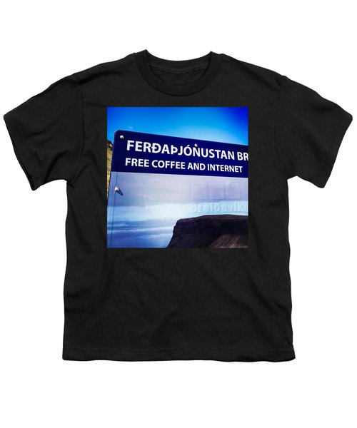 Free Coffee And Internet - Sign In Iceland Youth T-Shirt