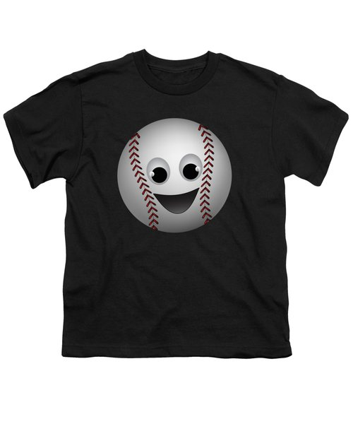 Fun Baseball Character Youth T-Shirt