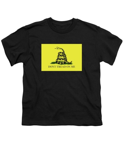 Gadsden Dont Tread On Me Flag Authentic Version Youth T-Shirt by Bruce Stanfield