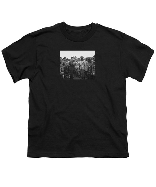 General Eisenhower On D-day  Youth T-Shirt by War Is Hell Store