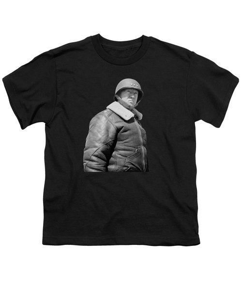 General George S. Patton Youth T-Shirt by War Is Hell Store
