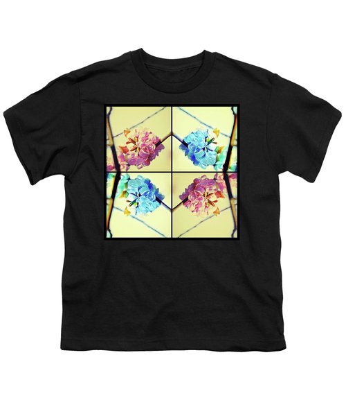 Geometric Cherry Blossoms Youth T-Shirt