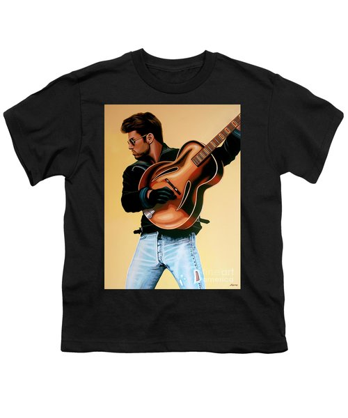 George Michael Painting Youth T-Shirt by Paul Meijering
