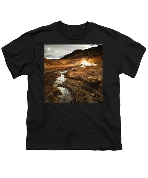 Geothermal Area Krysuvik In Iceland Youth T-Shirt