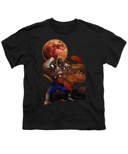Giant Monkey Vs Shen Long Youth T-Shirt