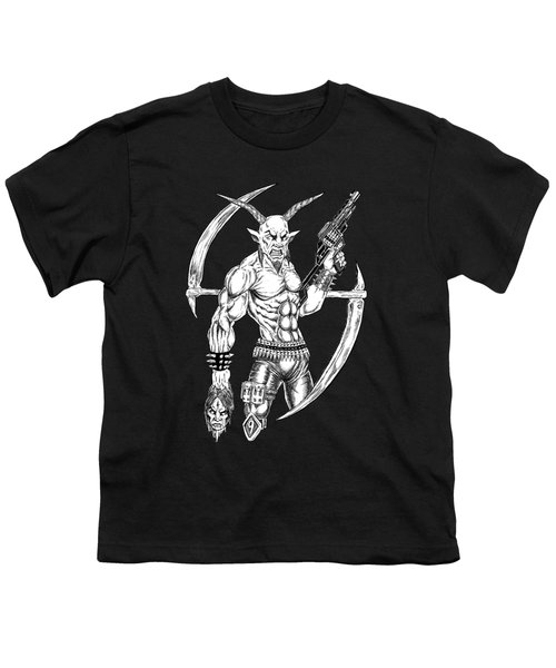 Goatlord Reaper Youth T-Shirt by Alaric Barca