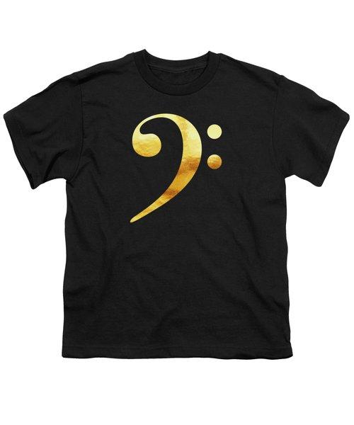 Golden Baseline Beat Bass Clef Music Symbol Youth T-Shirt
